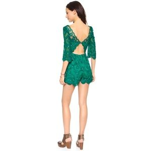 9e28d50df2b4 Free People Pants - Free People Emerald Songbird romper - price firm